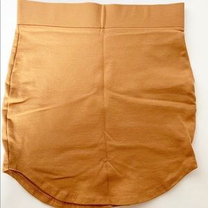 NWOT Forever 21 bodycon mini skirt brown size SM